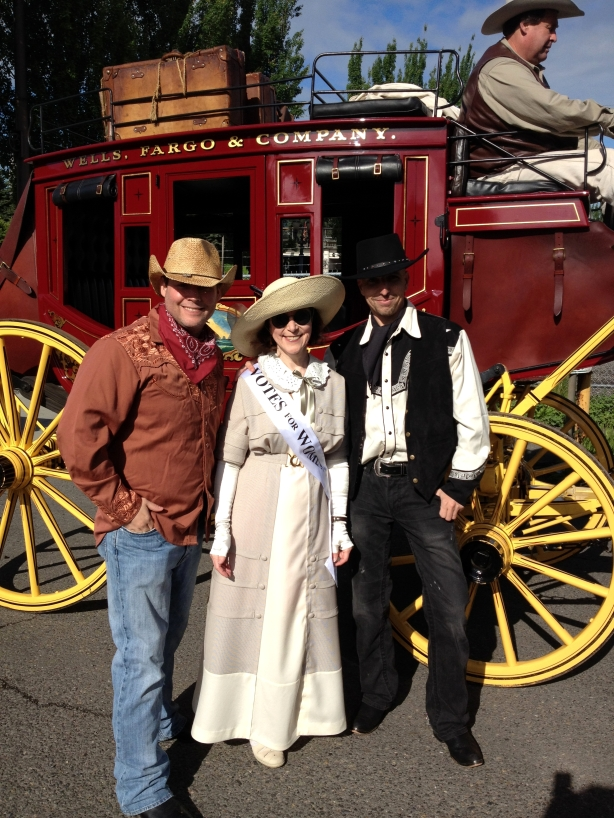 with the Wells Fargo Wagon