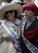 The 2 dresses & hats at the Rose Parade