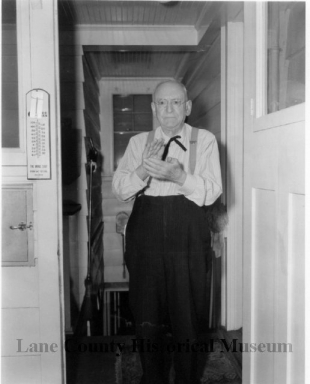 Judge Harris at the Kitchen door, 1960